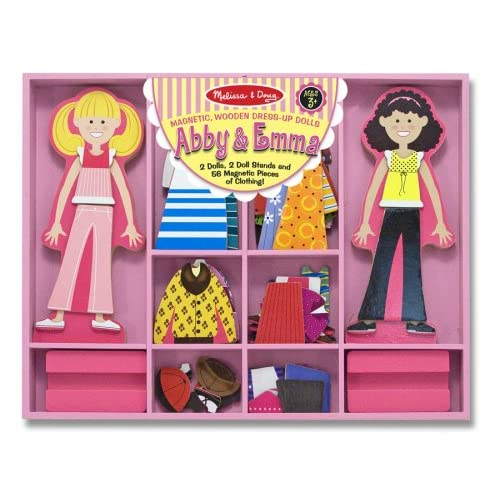 Melissa & Doug Abby & Emma Deluxe Magnetic Dress-Up Set