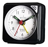 Acctim Plastic 12143 Tourer Alarm Clock, Black