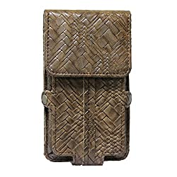 Jo Jo A6 Bali Series Leather Pouch Holster Case For HTC One (M8) dual sim Brown