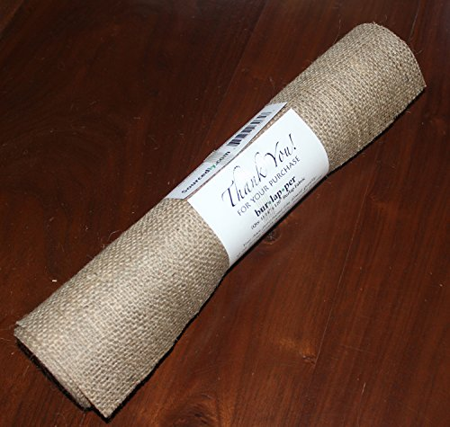 Burlapper burlap 14 inch x 120 inch natural home garden for 120 inches table runner