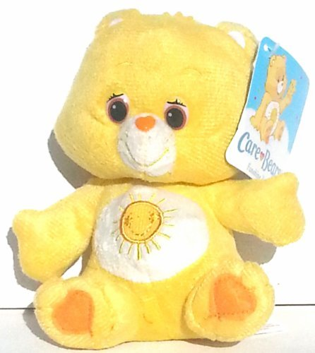 "Care Bear Sitting Plush 6.5"" ~ Funshine Bear - 1"