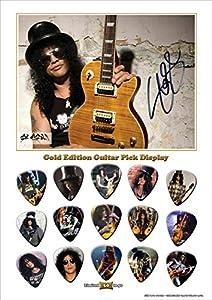 Slash New Gold Edition Gitarre Plektrum Display With 15 Gitarre Plektren