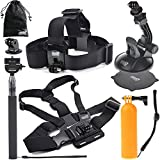 EEEKit 8-in-1 Accessories Kit for Gopro HERO 4 Session LCD Black/Silver HD 3+/3/2/1 Camera
