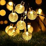 Amazon.co.jpProGreen イルミネーションライト LED40球 全長7.5m ソーラー充電  LEDクリスマス装飾 気泡 (電球色)