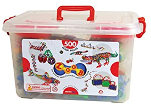 ZOOB 0Z11500 ZOOB 500 Moving Mind-Building Modeling System, Assorted Colors, 500-Pieces