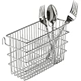 Utensil Drying Rack, 3 Compartments, Chrome