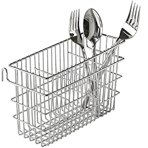Amazon.com - Utensil Drying Rack, 3 Compartments, Chrome - Dish Racks