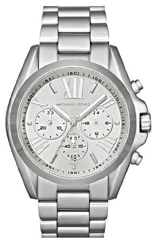 Michael Kors Men's MK5535 Silver Stainless-Steel Quartz Watch with Silver Dial