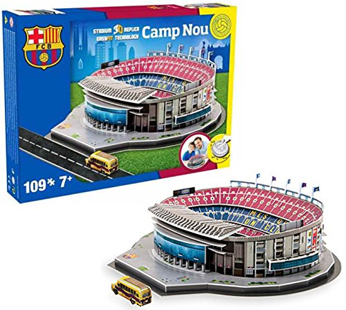 Nanostand Camp Nou Puzzle, Multicolore, Unica