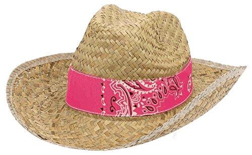 hat straw w/band