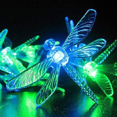 Solar Garden Lights, 30 Multi Coloured Dragonfly Led Lights (Cis-57178)