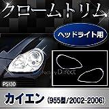 RI-PS130-01 ヘッドライト用 Cayenne/カイエン(955型/2002-2006) Porsche/ポルシェ クロームメッキランプトリム/ガーニッシュ