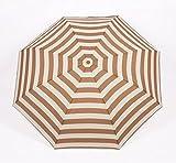 Fields of love Umbrella Folding Umbrella Princess Umbrella Creative umbrella Sunshade Navy Striped Umbrella(brown)