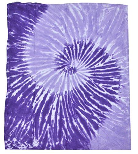 Colortone Tie Dye Blanket Spirl Purple (Tie Dye Quilt compare prices)