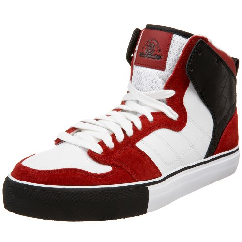 Element Men's Darrell 2 Skate Sneaker,Red/White,10.5 M US