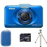 Nikon Coolpix S31 - Blue + Case + 8GB Card + Tripod (10.1MP, 3x Optical Zoom) 2.7 inch LCD