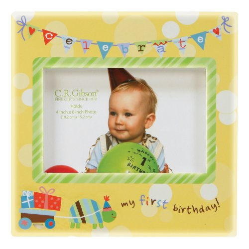 C.R. Gibson Photo Frame, First Birthday (Discontinued by Manufacturer)