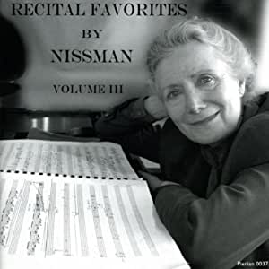 Recital Favorites By Nissman Vol. III
