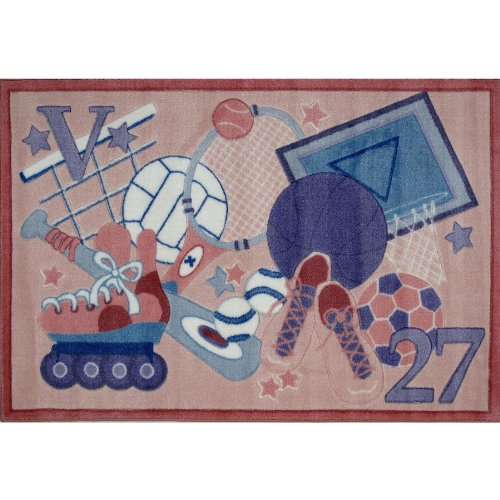 All Stars Girls Sports Area Rug 39