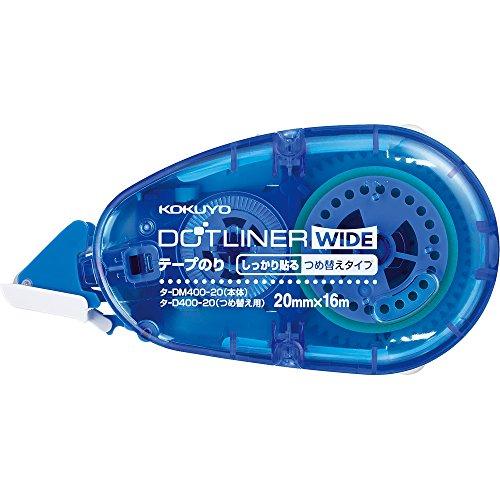 コクヨ テープのり ドットライナー ワイド 本体 強粘着 タ-DM400-20