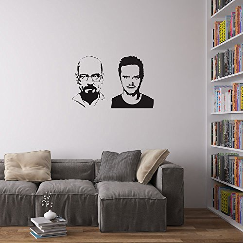 jesse-pinkman-and-heisenberg-wall-art-wandtattoo