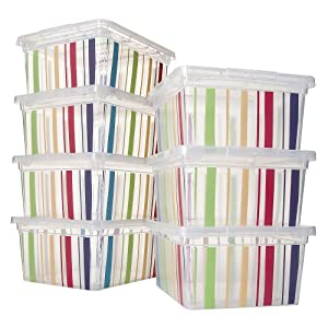 Circo 7 pc Stripe Print Storage Bin