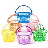 Bright Round Plastic Basket- Colors may vary