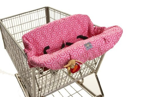 SHOPPING CART AND HIGH CHAIR COVER HOLLYWOOD - PINK