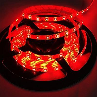 5m/ 16.4ft Smd3528 300 Leds Strip Lights, Flexible Light Strip Dc12v,waterproof Indoor Decoration Light Rope,60 Leds/m Wedding Christmas Lighting Red