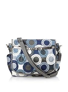 Coach Snaphead Messenger Baby Bag, Multi Blue