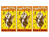Crick-ettes - Bacon & Cheese Flavored Cricket Snacks 1.4 grams (3 Pack)