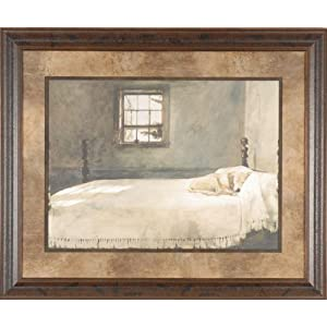 Master Bedroom Andrew Wyeth 35x29 Gallery Quality Framed Print Dog Sleeping Bed Picture Amazon