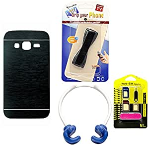 Mify Mobile Accessories Combo for Samsung Galaxy Core Prime, Navy Blue