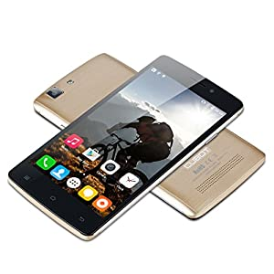 2015 Newest CUBOT X12 5.0'' IPS Android 5.1 (Lollipop) Unlocked LTE 4G Smartphone -- MTK6735 Quad Core 1GB RAM 8GB ROM Dual SIM Cellphone IR Remote Control OTG GPS Dual Cameras 3G SIM-Free Phablet (Golden)