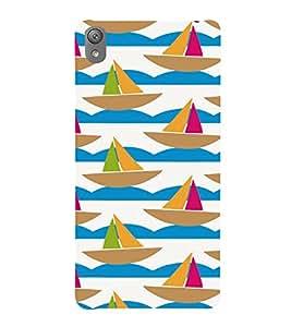 PrintVisa Flower Pattern 3D Hard Polycarbonate Designer Back Case Cover for Sony Xperia E5
