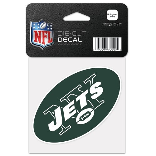 New York Jets 4x4 Die Cut Decal at Amazon.com
