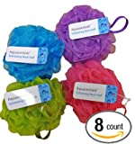 Aquasentials Mesh Pouf Bath Sponge (8 Pack)