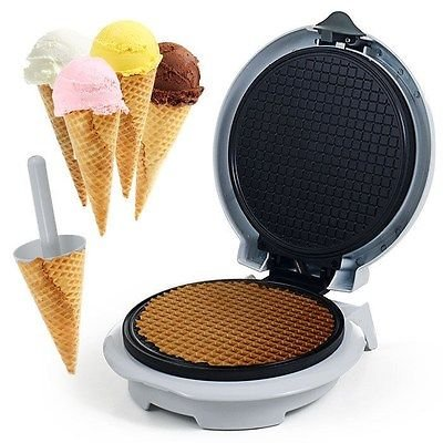 Chef Buddy Waffle Cone Maker with Cone Form - Like an Ice Cream Shoppe at Home (Hello Kitty Bakery Set compare prices)