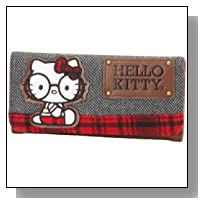 Hello Kitty SANWA0414 Wallet,Black/White/Brown/Red,One Size