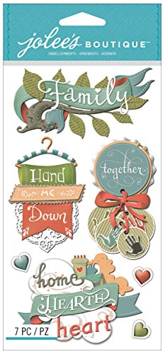 Jolee's Boutique Dimensional Stickers, Family Words