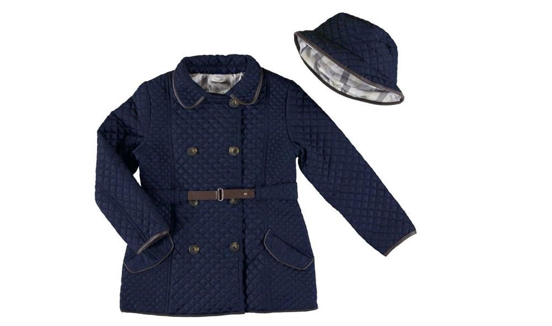 Husky Jacke Mantel mit Hut, Farbe Blau jetzt bestellen