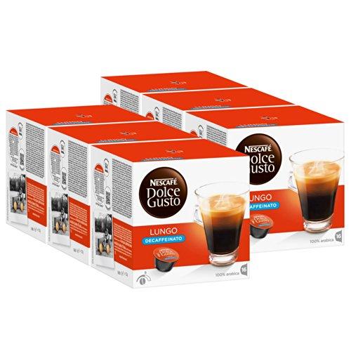 Buy Nescafé Dolce Gusto Caffè Lungo Decaffeinato, Pack of 6, 6 x 16 Capsules from Nestlé