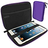 IGadgitz Purple EVA Zipper Travel Hard Case Cover Sleeve for Apple iPad Mini 1st Gen & New 2nd Gen with Retina Display (launched October 2013) Wi-Fi + Cellular LTE 16GB 32GB 64GB 128GB