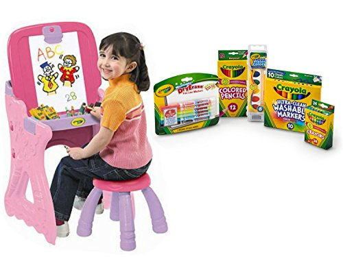 Crayola Play 'N Fold 2-in-1 Art Studio and Crayola Starter Pack, includes Crayons, Colored Pencils, Markers, and Water Color, Bundle (Skylander Ipad Starter Kit compare prices)