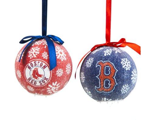 Mlb 6 Piece Led Boxed Ornament Set Mlb Team: Boston Red Sox