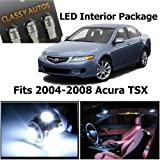 Acura TSX White Interior LED Package (6 Pieces)