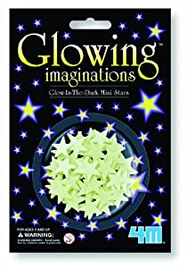 4M Glow-In-The-Dark Stars mini stars pack of 60