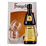 Frangelico Hazelnut Liqueur 50cl Gift Set with 2 Branded Glasses