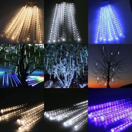 30cm-144-LED-Meteor-Shower-Rain-Lights-Waterproof-8-Tubes-String-for-Xmas