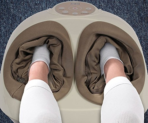 Shiatsu Deep Kneading Foot Massager with Variable Heat and Intensity Settings